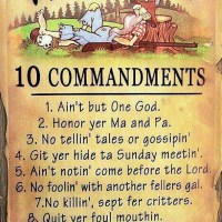 The 10 Hillbilly Commandments