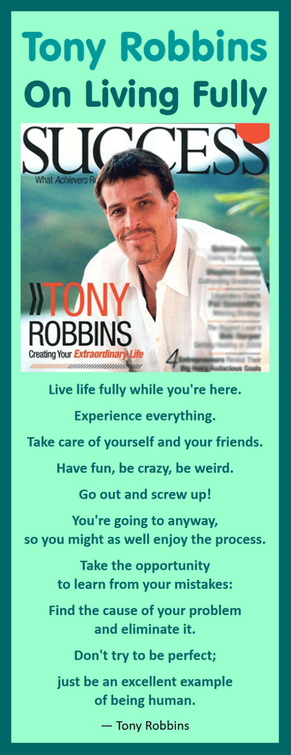 Tony Robbins on Living Fully