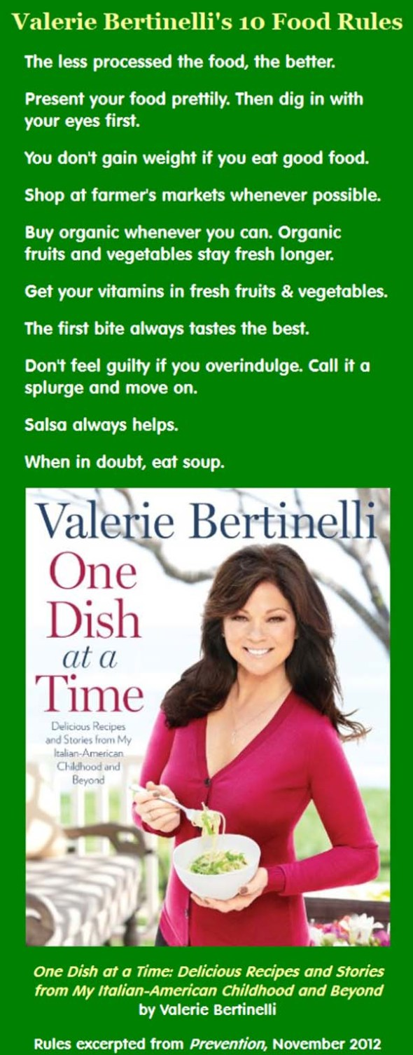 Valerie Bertinelli's 10 Healthy Food Rules