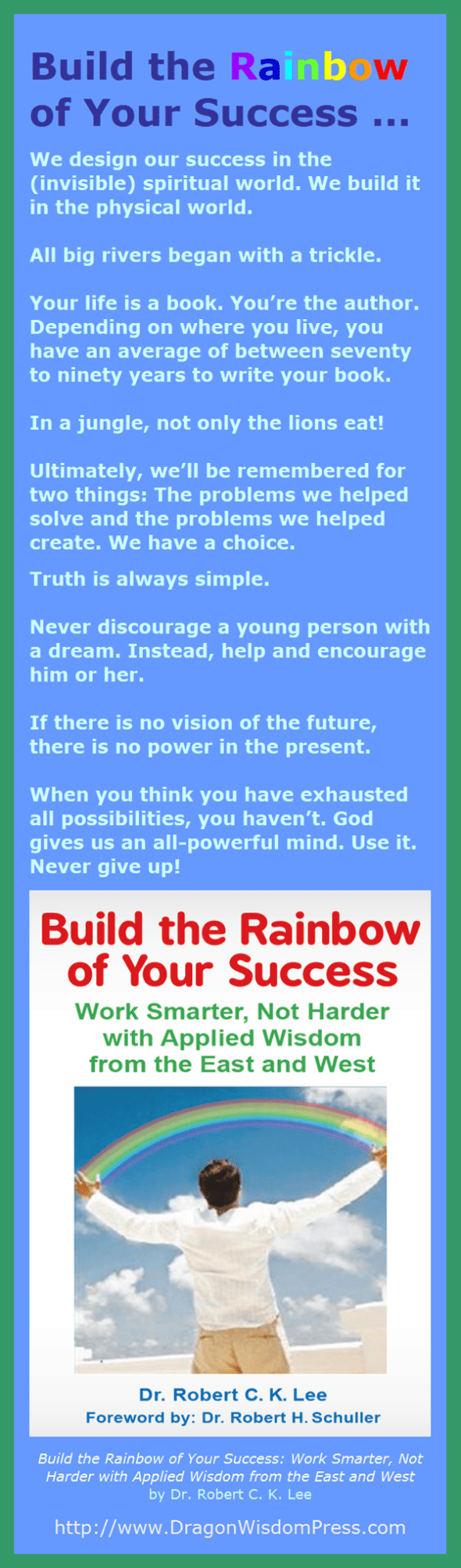 Build the Rainbow of Your Success