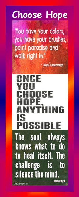 motivational bookmark - choose hope