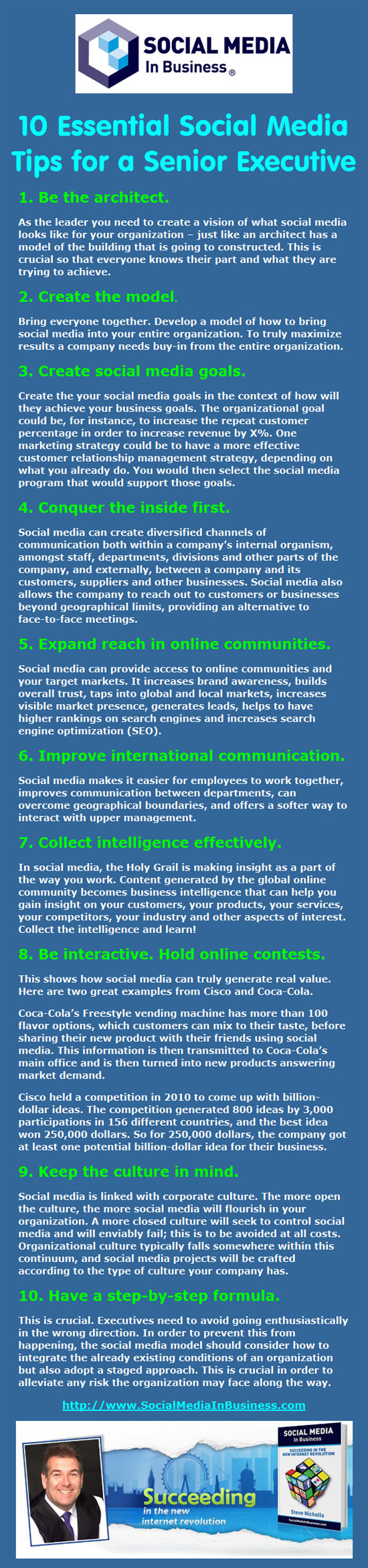 social media in business infographic