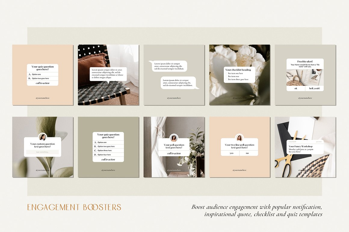 Peachy Instagram template Audience engagement boosters Instagram Inspirational quotes Instagram blogger template Instagram blogger