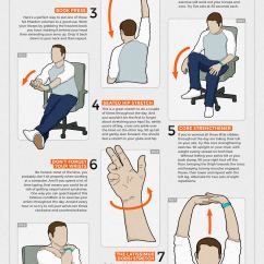 30 Minutes In Chair Exercises For Seniors Baker Dining Chairs 10 Essential Desk Designers Infographic Facts