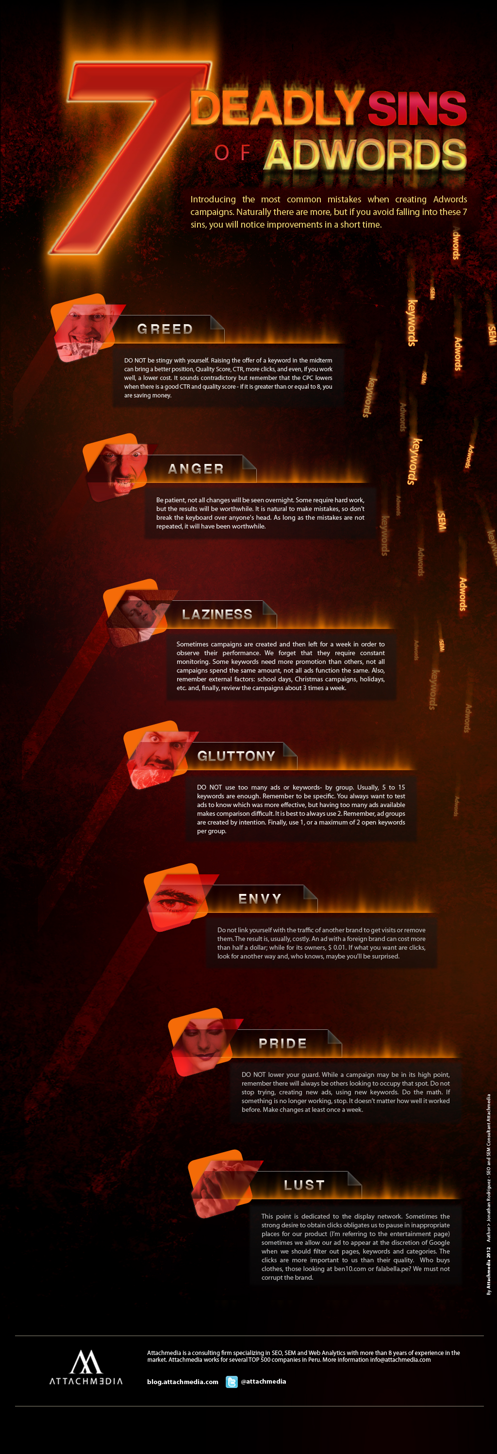 7 Deadly Sins Of Adwords Infographic Infographic List