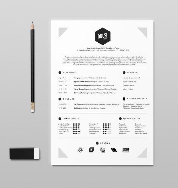 beau cv design graphiste