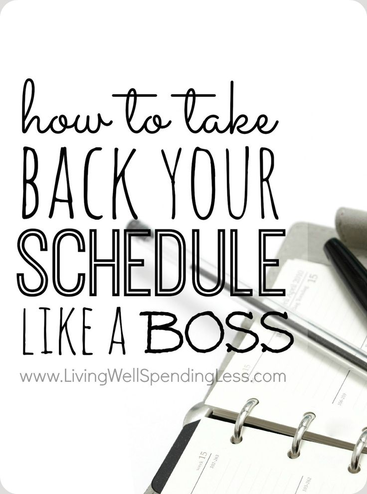 Management : How to Take Back Your Schedule Like a Boss