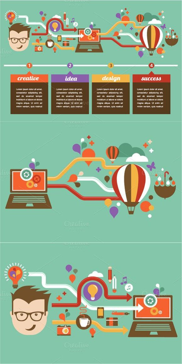 business infographic design creative