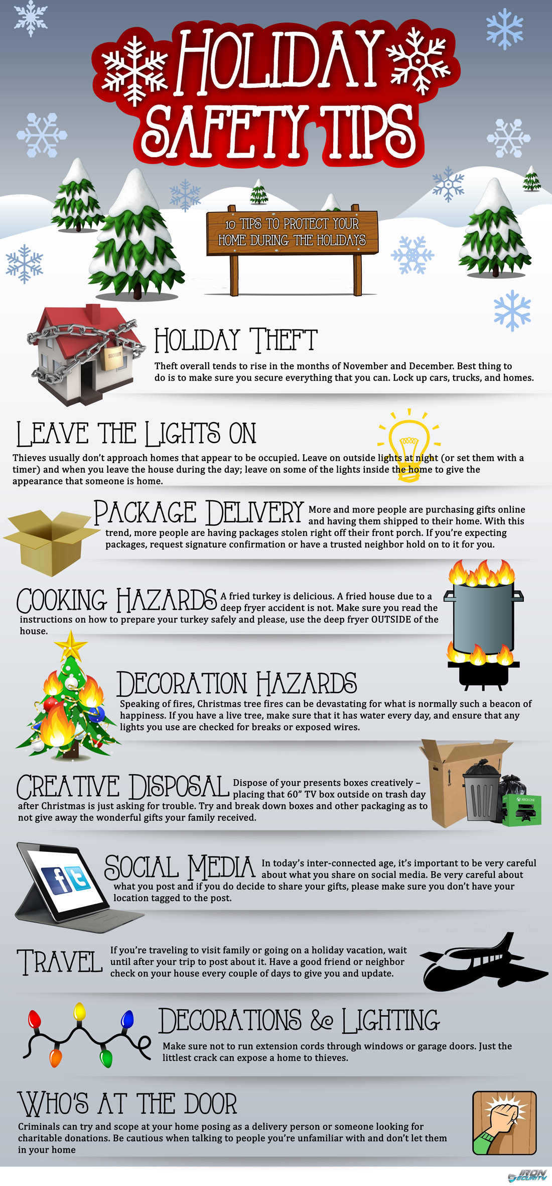10 Holiday Safety Tips Infographic