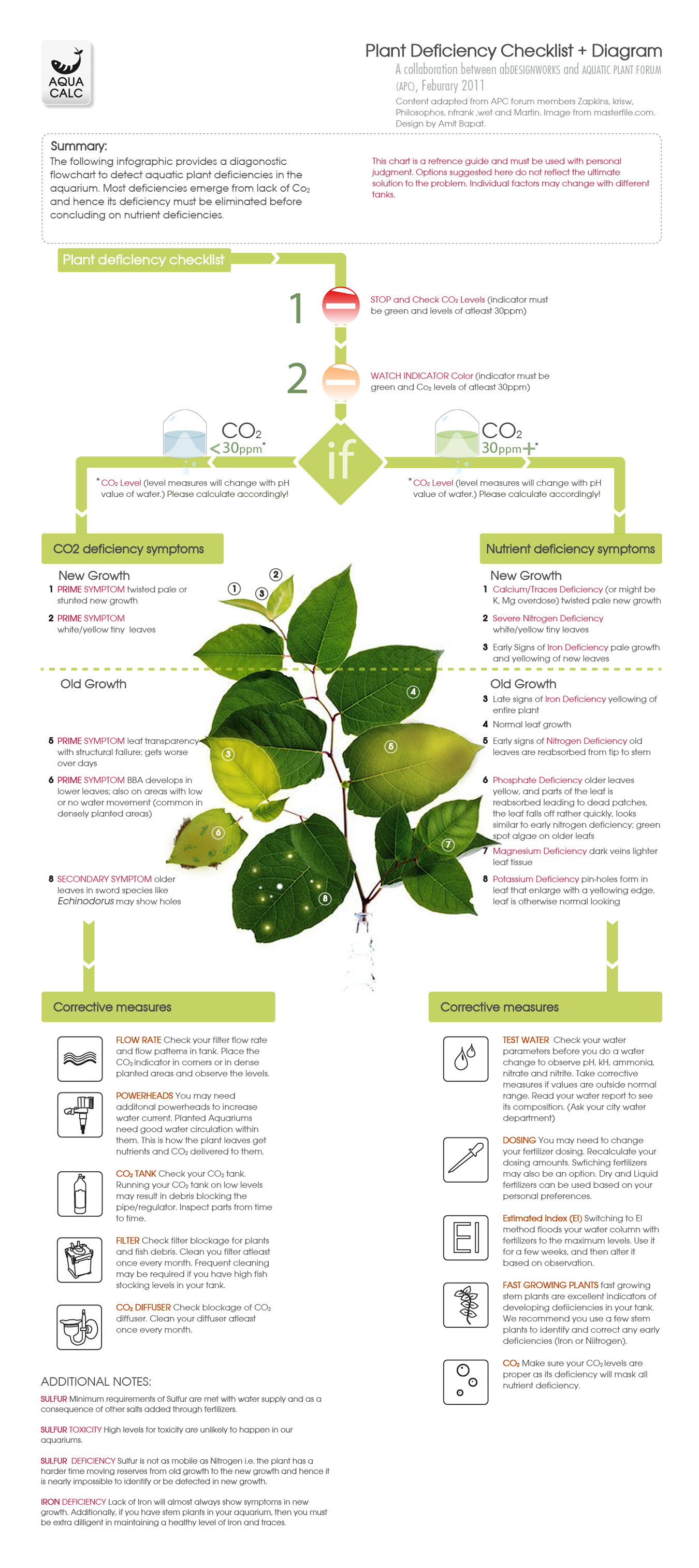 hight resolution of plant deficiency diagram
