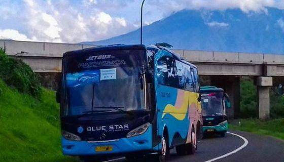Jasa Rental Bus Pariwisata Blue Star di Karet Tengsin Jakarta