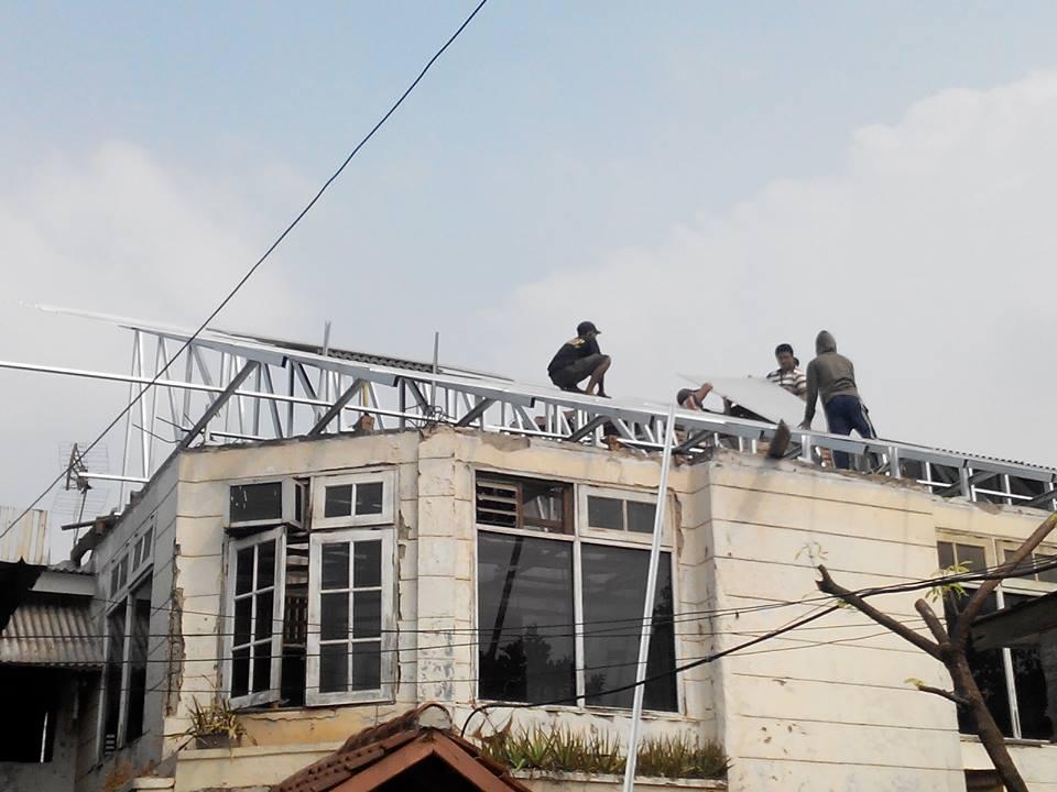 rangka baja ringan atap miring 2014 info indonesia