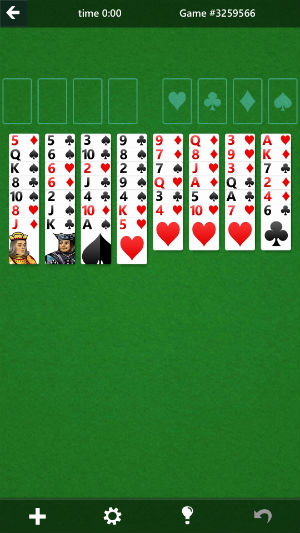 addictive solitaire-game from microsoft