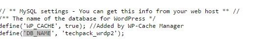 find database name in hostgator cPanel