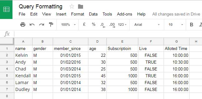 How to Format Date, Time, and Number in Google Sheets Query