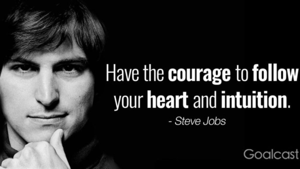 steve jobs on not fearing failure