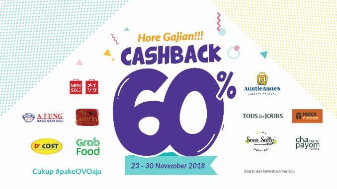 Promo Ovo Cashback 60 Sampai 30 November 2018 Info Kuis Berhadiah