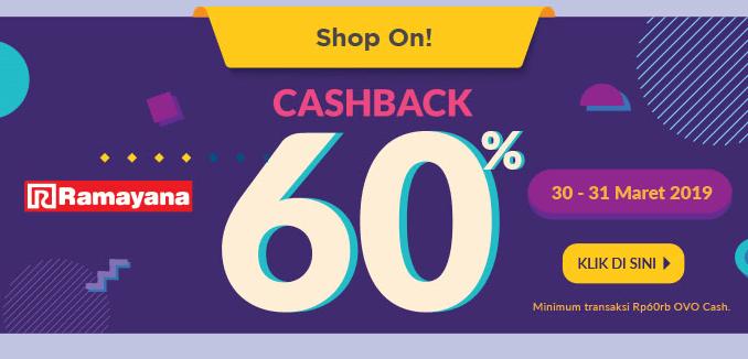 Cashback 60% di Ramayana Pakai OVO | Info Kuis Berhadiah