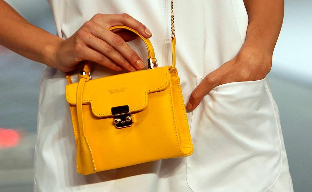 Bolsa de Piel Amarillo