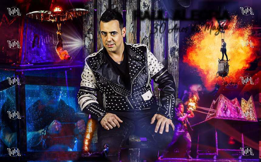 Raúl Alegría presenta su espectáculo '30 años de magia' este fin de semana en el Palacio