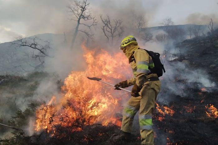 Liébana registra cuatro incendios y varios incidentes por viento durante el fin de semana