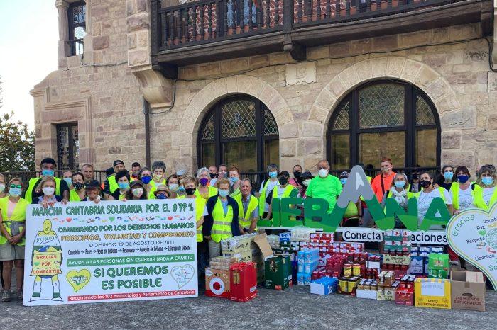 Cantabria Solidaria por el 0,77% recauda más de 3.000 kilos de alimentos en Liébana