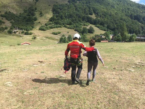 Rescatada en helicóptero una senderista enriscada en Picos de Europa