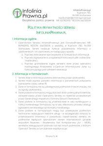 Polityka prywatności serwisu InfoliniaPrawna.pl