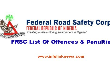 FRSC List Of Offences & Penalties