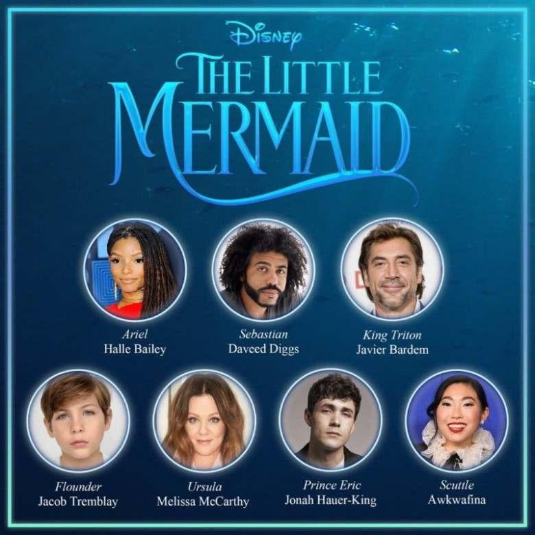 Disney revela el elenco del live-action de 'La Sirenita' al completo
