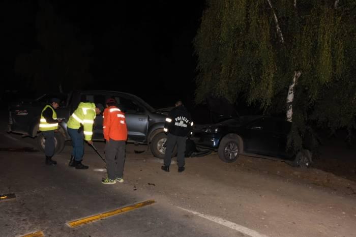 Borracho produce un accidente en cadena, involucrando a cuatro vehículos
