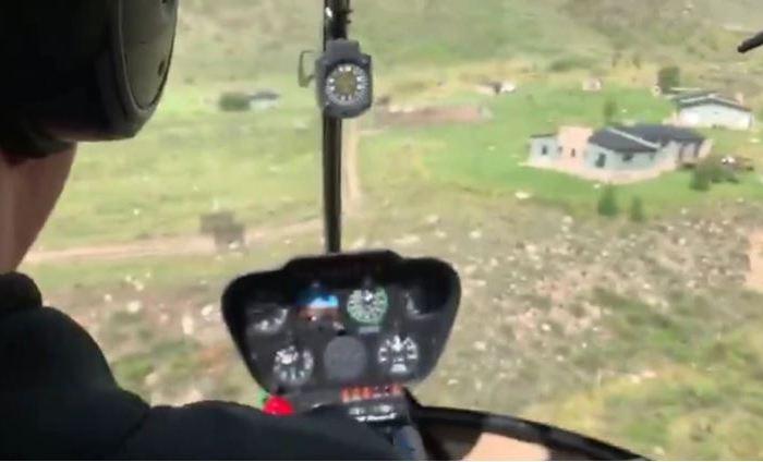 Video: los dramáticos instantes de un accidente de helicóptero en Mendoza, visto desde dentro de la cabina