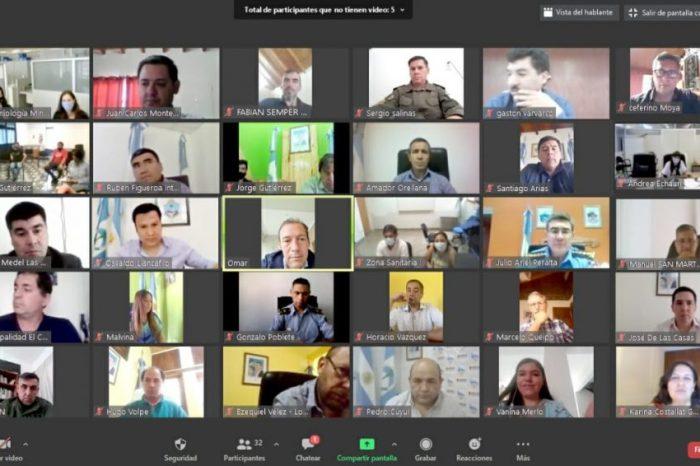 Coronavirus: Gutiérrez encabezó una reunión para analizar la situación de Chos Malal