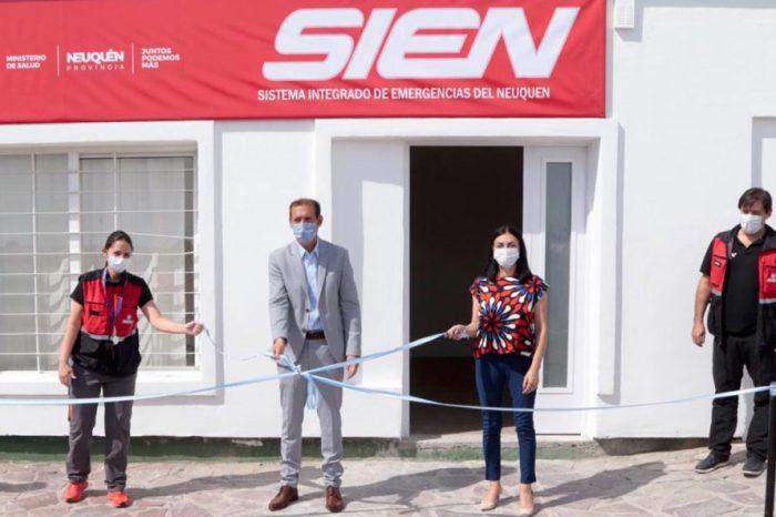 Gutiérrez y Peve inauguraron una base del SIEN en el oeste neuquino