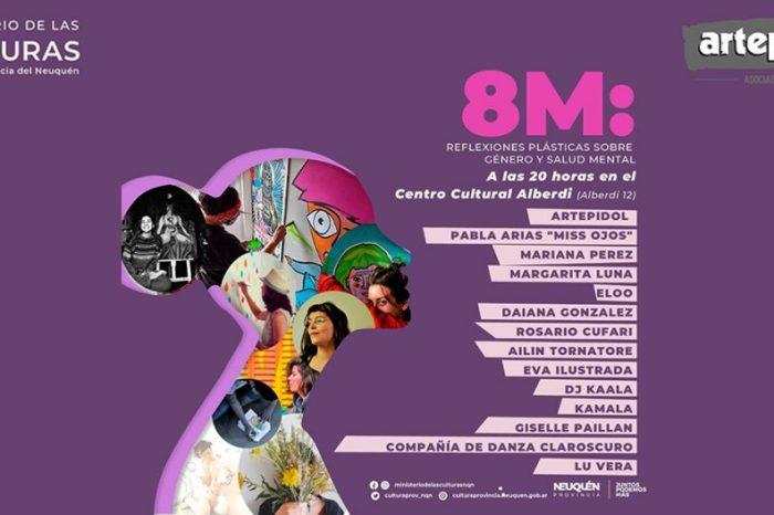 8M: Reflexiones plásticas sobre género y salud mental en el Centro Cultural Alberdi