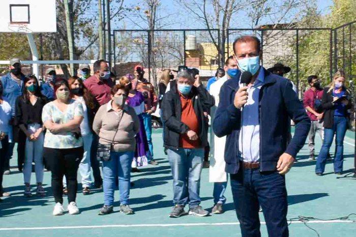 Inauguraron espacio verde en barrio El Progreso