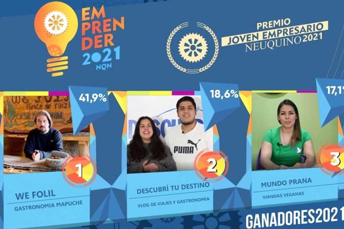 Ganadores del Premio Joven Emprendedor 2021