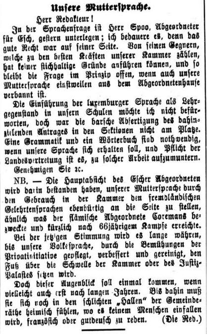Luxemburger Wort 11.12.1896