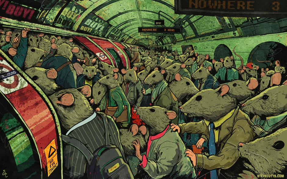 Rats by Steve Cutts