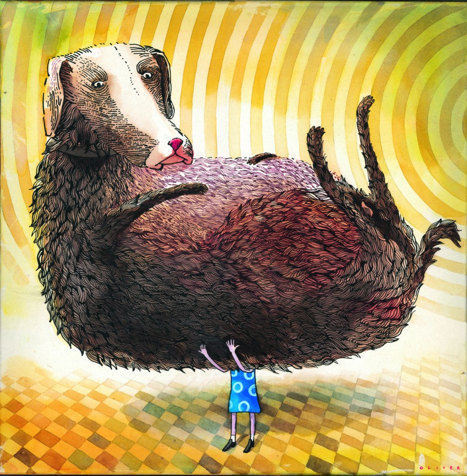 Oliver Streich-Stor hund-2010-40x40