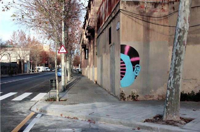 street intervention in Barcelona 2015