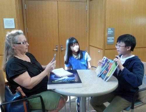 Cynthia Ciullo (Correspondent of Shrewsbury Chronicle) interviewed David and Laura at Shrewsbury Public Library