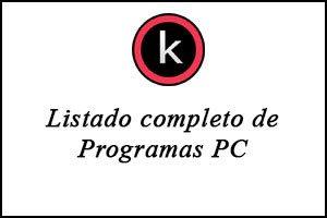 Películas, Listado de Programas para Windows