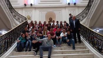 Alumnos de Díaz visitaron el Senado y dialogaron con Lifschitz