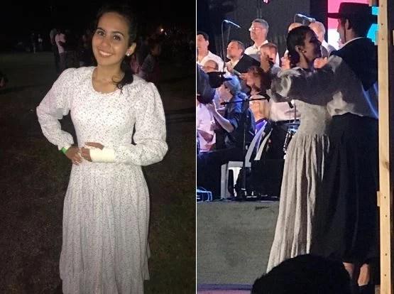 Rocio Piedrabuena volvió a bailar folclore sobre el escenario de Timbúes