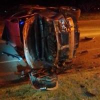 Un vehículo con dos jóvenes de Centeno volcó en San Genaro