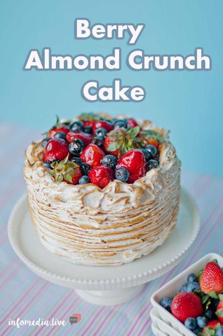 Berry Almond Crunch Cake