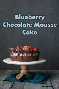 Blueberry Chocolate Mousse Cake