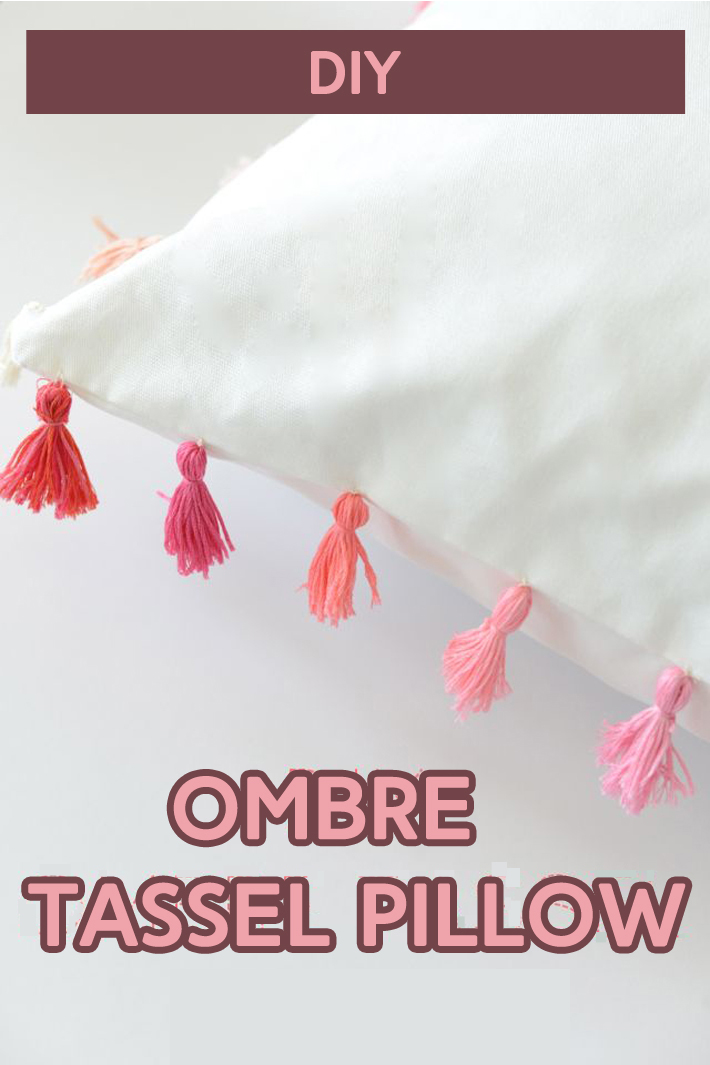 DIY Ombre Tassel Pillow