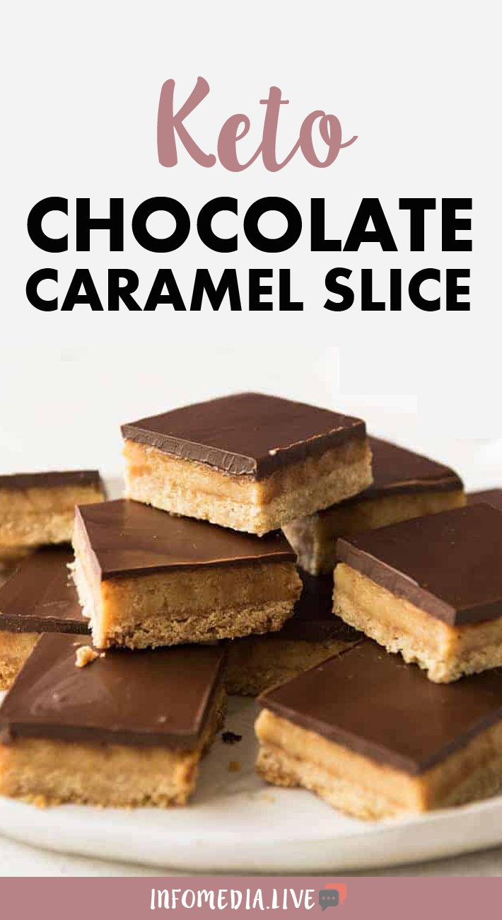 Keto Chocolate Caramel Slice